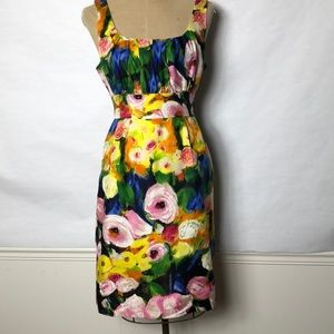 J. Crew water color floral silk dress